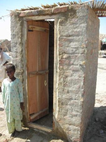 村に設置されたトイレ